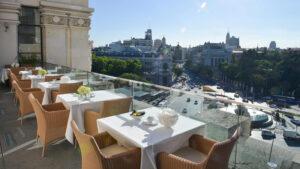 palacio cibeles restaurante - mejor lugar con terraza en madrir en el centro